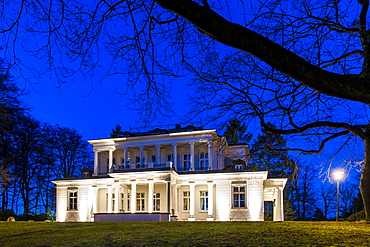 Gossler house in the twilight, Hamburg-Blankenese, Hamburg, Germany