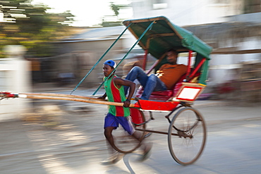 Rickshaws, pousse pousse, Tulear, South-west Madagascar, Africa