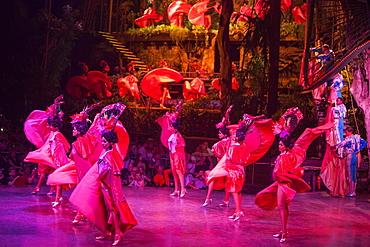 Dance performance at Tropicana cabaret club show, Havanna, Havana, Cuba, Caribbean