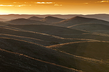 Sunset over the Flinders Ranges, Flinders Ranges, South Australia, Australia