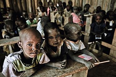 Children in a Massai village school, Kenya, Africa