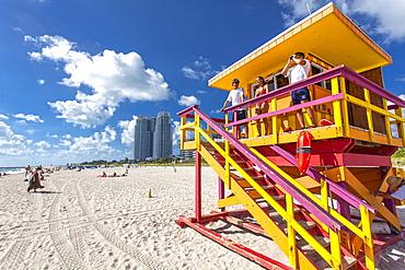 Lifeguards, South Beach, Miami, Florida, USA