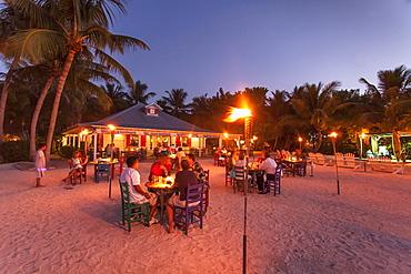 Dinner in restaurant Morada Bay, Islamorada, Florida Keys, Florida, USA