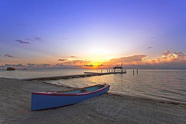 Beach at sunrise, Moorings Village Resort, Islamorada, Florida Keys, Florida, USA