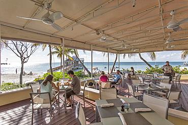 Terrace of Gourmet Restaurant The Strip House, Reach Resort, Key West, Florida Keys, USA