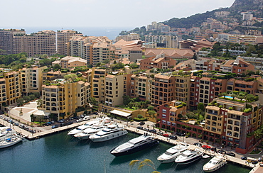 Yachts in the Port, Fontvieille, Monaco, Monte Carlo, Cote d Azur, France, Europe