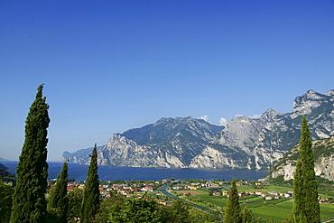 View towards Torbole, Riva del Garda, Lake Garda, Lago di Garda, Trient, Italy, Europe