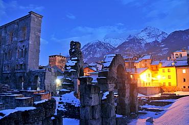Roman Theatre in Aosta, Aosta Valley, Italy