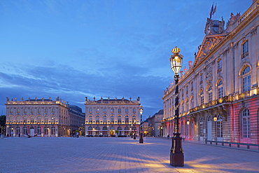 La Place Stanislas in Nancy, Dept, Unesco World Cultural Heritage, Meurthe-et-Moselle, Region Alsace-Lorraine, France, Europe