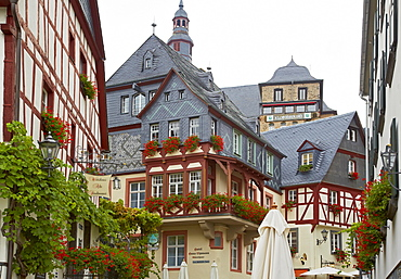 Old town of Beilstein along the river Mosel, Rhineland-Palatinate, Germany, Europe
