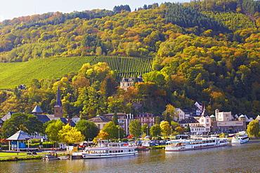View of Trarbach, Traben-Trarbach, Mosel, Rhineland-Palatinate, Germany, Europe