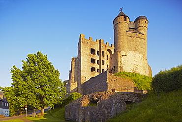 View of Greifenstein castle, Westerwald, Hesse, Germany, Europe