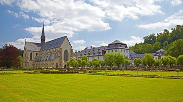 Abtei Marienstatt from the 13th century with church, Nistertal, Streithausen, Westerwald, Rhineland-Palatinate, Germany, Europe