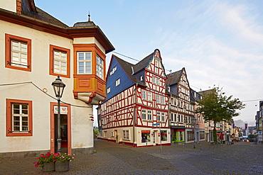 Old town of Montabaur in the morning, Westerwald, Rhineland-Palatinate, Germany, Europe