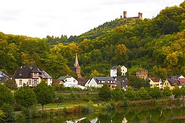 Balduinstein and Burg Schaumburg, Lahn, Westerwald, Rhineland-Palatinate, Germany, Europe
