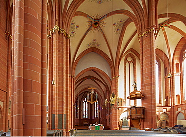 Inside Wetzlar cathedral, Lahn, Westerwald, Hesse, Germany, Europe