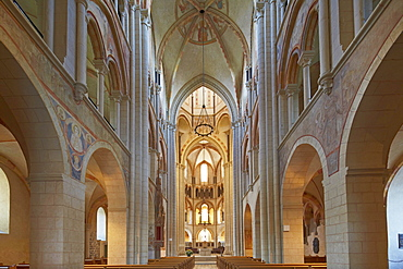Nave in Limburg cathedral, St. Georgs Cathedral, Limburg, Westerwald, Hesse, Germany, Europe