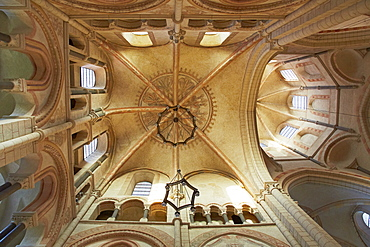 Vaulted ceiling in Limburg cathedral, St. Georgs Cathedral, Limburg, Westerwald, Hesse, Germany, Europe