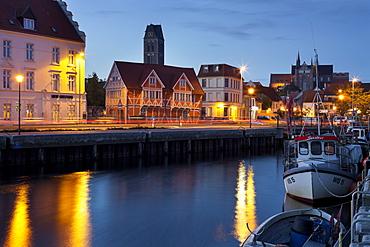 Old harbour, St. Marien, Wismar, Mecklenburg-Vorpommern, Germany