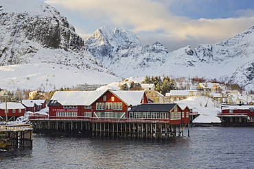 Village of A, Gjertindan, Moskenesoya, Lofoten, Nordland, Norway