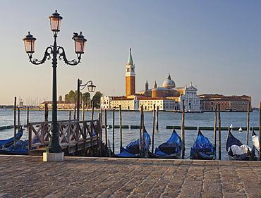 San Giorgio Maggiore of Riva degli Schiavoni, Gondolas, San Marco, Venice, Italy
