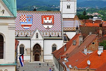 St. Mark's church on the market square, government quarter, upper town, Zagreb, Croatia