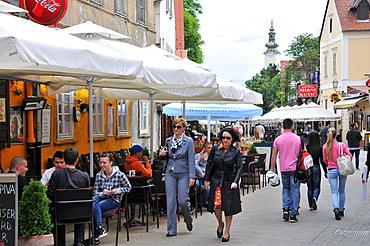 Bar in Tkalcicev street, Under Town, Zagreb, Croatia