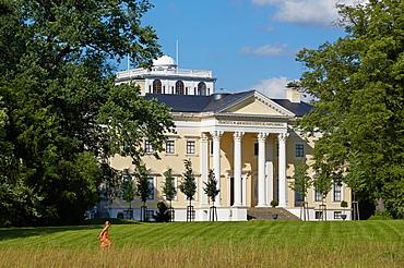 Castle Woerlitz in Dessau-Woerlitz Garden Realm, Saxony-Anhalt, Germany