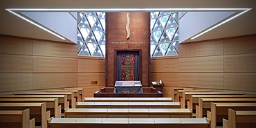 Prayer room in the New Synagogue of Ulm, Weinhof, Ulm, Baden-Wuerttemberg, Germany