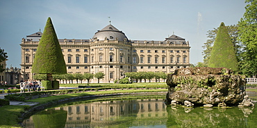 Royal garden and Residenz, Wuerzburg, Franconia, Bavaria, Germany, UNESCO
