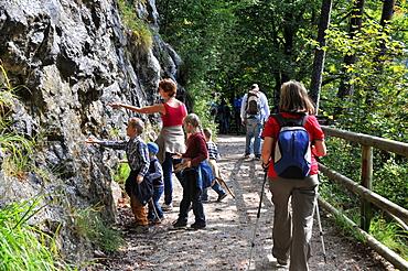 Hiking in the Kaiser valley, Kaiserrange over Kufstein, Tyrol, Austria