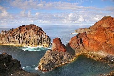 At the lighthouse da Ponta da Barca, north of the Island of Graciosa, Azores, Portugal
