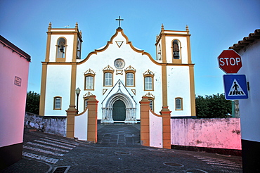 Main church of Praia da Vitoria, Island of Terceira, Azores, Portugal