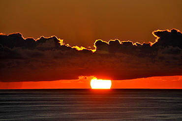 Sunrise near Praia da Vitoria, Island of Terceira, Azores, Portugal