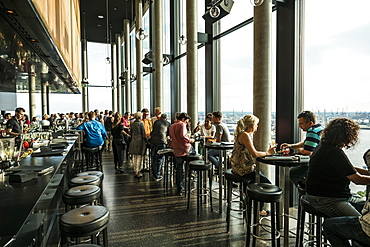 Bar 20up at the Empire Riverside Hotel at the Reeperbahn Hamburg, Hamburg, Germany