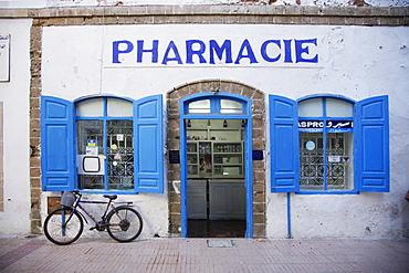 Exterior shot of a pharmacy, Morocco