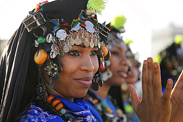 Women wearing traditional Berber costumes, Morocco
