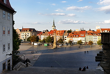 Cathedral Steps, Cathedral Square, Domplatz, Erfurt, Thuringia, Germany