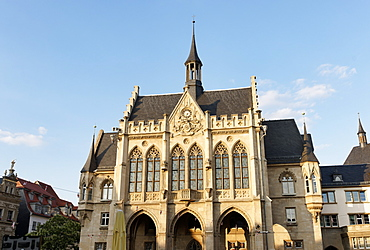 City Hall, Fishmarkt, Erfurt, Thuringia, Germany