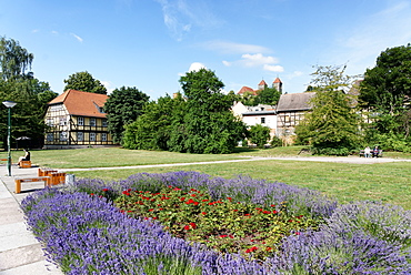 Word house with garden, Quedlinburg, Saxony-Anhalt, Germany