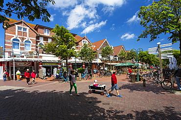 Cafes and restaurants in Barkhausen Street, Langeoog, Langeoog Island, North Sea, East Frisian Islands, East Frisia, Lower Saxony, Germany, Europe