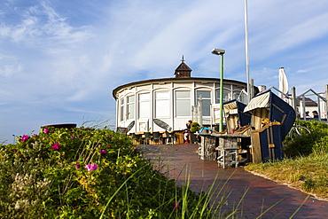Restaurant Strandhalle in the dunes, Langeoog Island, North Sea, East Frisian Islands, East Frisia, Lower Saxony, Germany, Europe