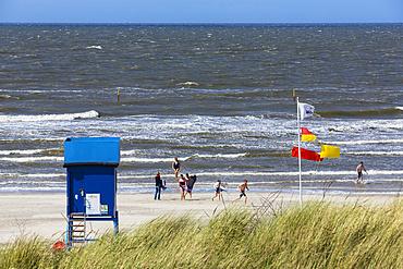 Beach, Langeoog Island, National Park, Unesco World Heritage Site, North Sea, East Frisian Islands, East Frisia, Lower Saxony, Germany, Europe