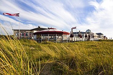 Cafe Restaurant Strandhalle, Juist Island, Nationalpark, North Sea, East Frisian Islands, East Frisia, Lower Saxony, Germany, Europe