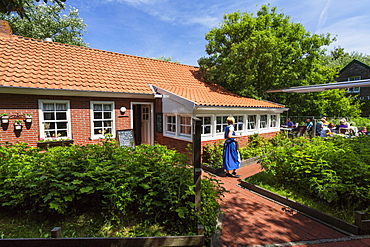 Tea house, Luetje Teehuus, Juist Island, Nationalpark, North Sea, East Frisian Islands, East Frisia, Lower Saxony, Germany, Europe