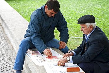 Men playing domino, Tirana, Albania