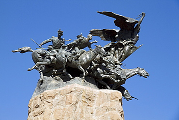 Monument to the Army of the Andes, created by Juan Manuel Ferrari, on the summit of Cerro de la Gloria, Mendoza, Argentina