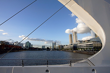 Santiago Calatrava's Puente de La Mujer (Women's Bridge) in Puerto Madero, Buenos Aires, Capital Federal, Argentina
