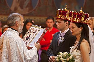 Bulgarian Orthodox Wedding at the Church of St. Nedelya, Sofia, Bulgaria