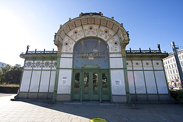 Karlsplatz Stadtbahn Station designed by Otto Wagner, Vienna (Wien), Austria